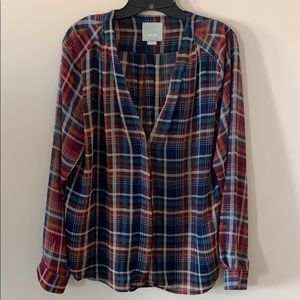 Sheet plaid Maeve blouse